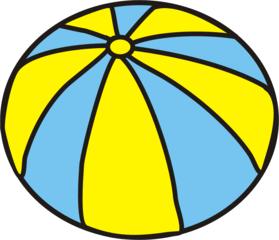 Wasserball blau-gelb - Ball, Bälle, Spielzeug, Spielsachen, spielen, Anlaut B, blau, gelb