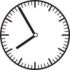 Uhrzeit 7.55 - 19.55 - Uhr, 5 Minuten vor, Uhrzeit, Zeit, Zeitspanne, Zeitpunkt, Zeiger, Mechanik, Zeitskala, Zeitgeber, Analoguhr, Zifferblatt, Ziffernblatt, rechtsdrehend, Uhrzeigersinn, Minute, Stunde, Kreis, Winkel, Grad, Mathematik, Größen, messen, time, clock, ermitteln, Zeitraum, Dauer, Frist, Termin, Zeitabschnitt