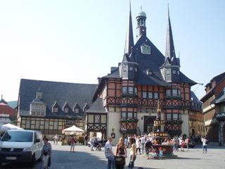 Rathaus zu Wernigerode / Harz - Rathaus, Wernigerode, Harz, Fachwerk, Gebäude, Architektur, Mittelalter, Geschichte, Türmchen, spitz