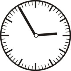 Uhrzeit 2.55 - 14.55 - Uhr, 5 Minuten vor, Uhrzeit, Zeit, Zeitspanne, Zeitpunkt, Zeiger, Mechanik, Zeitskala, Zeitgeber, Analoguhr, Zifferblatt, Ziffernblatt, rechtsdrehend, Uhrzeigersinn, Minute, Stunde, Kreis, Winkel, Grad, Mathematik, Größen, messen, time, clock, ermitteln, Zeitraum, Dauer, Frist, Termin, Zeitabschnitt