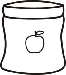 Apfelmus - Apfel, Mus, Kompott, Apfelkompott, Anlaut A, Glas, essen, Obst, kochen