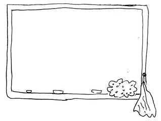 Tafel - Tafel, Schreibtafel, Schultafel, Kreidetafel, Wandtafel, board, blackboard, chalkboard, Schule, schreiben, abwischen, Schwamm, Lappen, Kreide, Tafelkreide