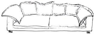 Sofa - Sofa, Sitzsofa, Couch, Kanapee, Wohnen, Wohnung, Sitzmöbel, Möbel, Möbelstück, Wohnungsgegenstände, Einrichtungsgegenstände, Wohnzimmer, sitzen, liegen, entspannen, gepolstert