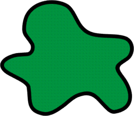 Farbfleck grün - Farbe, Fleck, Anlaut F