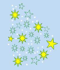 Sternenwolke - Stern, Sterne, Weihnacht, Winter, festlich, Fest, gestalten, Gestaltung, Advent