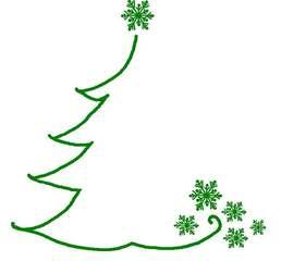 weihnachtliche Illustration - grün, weihnachtlich, Baum, Schneeflocke, Illustration, Weihnachten, gestalten, Gestaltung, Advent