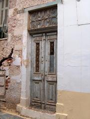 Haustüren Europas - Haustür, Tür, Eingang, alt, verfallen, Rethymnon, Kreta, Griechenland