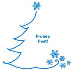 Grafik zur weihnachtlichen Illustration mit Text   - blau, weihnachtlich, Fest, Gestaltung, gestalten, Illustration, Baum, Schneeflocke, Advent