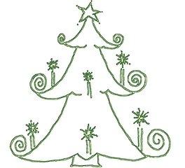 Weihnachtsgrafik Lichterbaum - Licht, Baum, Lichterbaum, weihnachtlich, Weihnachten, Advent, grün, Weihnachtsbaum, Tannenbaum, Tanne