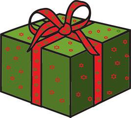 Weihnachtsgeschenk - Geschenk, schenken, Geburtstag, Weihnachten, Paket, Anlaut G, Illustration