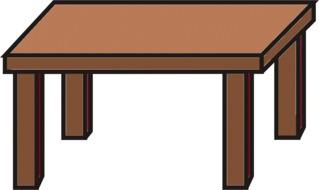 Tisch braun - Tisch, Küchentisch, Anlaut T, Möbel, Möbelstück, Wörter mit sch