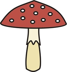 Fliegenpilz - Fliegenpilz, Pilz, Wald, giftig, ungenießbar, rot, Schwammerl, Glückssymbol, Anlaut F, Glück, Glücksbringer, Silvester, Neujahr