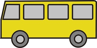Bus gelb - Bus, Kleinbus, Schulbus, Anlaut B, Schülertransport