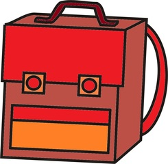 Schultasche rot - Tornister, Tasche, Anlaut Sch, Tasche, Schultasche, Ranzen, Schule, Arbeitsmittel, Tornister, Riemen, Schnalle