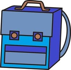 Schultasche blau - Tornister, Tasche, Anlaut Sch, Tasche, Schultasche, Ranzen, Schule, Arbeitsmittel, Tornister, Riemen, Schnalle