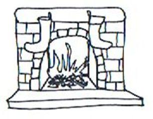 Kamin - fireplace, house, Kamin, Kaminfeuer, Feuer, Flamme, Flammen, flackern, lodern, Holz, Scheite, Holzscheit, züngeln, Glut, Asche, brennen, verbrennen, Verbrennung, Wärme, Hitze, Rauch, Meditation, knistern