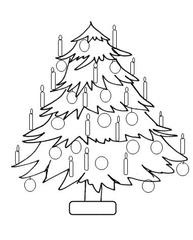 Weihnachtsbaum 2 - Weihnachtsbaum, Weihnachten, Advent, Christmas, Christmas tree, Christbaum, Wörter mit ei, Wörter mit au
