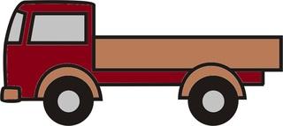 Lastwagen braun - Lastwagen, Auto, LKW, Anlaut L, Ladefläche, Ladung, Transport, transportieren, Laster