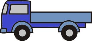 Lastwagen blau - Lastwagen, Auto, LKW, Anlaut L, Ladefläche, Ladung, Transport, transportieren, Laster