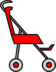 Buggy rot - Buggy, Transport, sportwagen, schieben, Kinderwagen, Kind, Anlaut B
