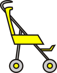 Buggy gelb - Buggy, Transport, sportwagen, schieben, Kinderwagen, Kind, Anlaut B