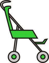 Buggy gruen - Buggy, Transport, sportwagen, schieben, Kinderwagen, Kind, Anlaut B