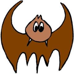 Fledermaus#2  braun - Zeichnung, Anlaut F, flattern, gruselig, Halloween, Tiere, fliegen, Säugetier, Nacht