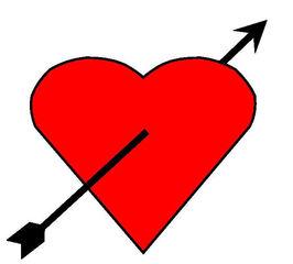 Herz #2 - Herz, Pfeil, Amor, Liebe, verliebt, Zeichnung, Illustration, rot, Glück, Gefühl, Wörter mit z