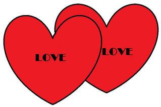 Herz #3 - Herz, Herzen, zwei, Liebe, Love, verliebt, Zeichnung, Illustration, rot, Glück, Paar, Gefühl