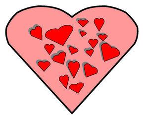 Herz #5 - Herz, Herzen, Liebe, verliebt, Zeichnung, Illustration, rot, Glück, Gefühl, Kitsch, Love