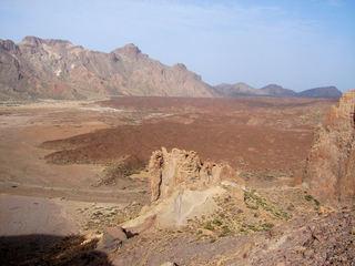 Teneriffa, erstarrte Lava  1 - Teneriffa, Lava, erstarrt, Lavafluss, Canadas, Teide
