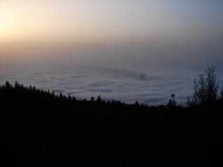 Blick auf die Wolken über La Oratova, Teneriffa 1 - Teneriffa, Nebel, Wolken, Abendstimmung