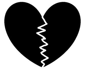 Herz #7 - Herz, Liebe, Love, verliebt, Zeichnung, Illustration, Glück, Paar, Gefühl, Unglück, gebrochen, Trennung, Trauer, Liebeskummer, Eifersucht, traurig, Traurigkeit, Enttäuschung