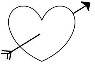 Herz #8 - Herz, Pfeil, Amor, Liebe, Love, verliebt, Zeichnung, Illustration, Glück, Gefühl