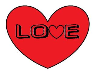 Herz #10 - Herz, Love, Liebe, verliebt, rot, Symbol, Glück, Partner, Schrift, Schriftzug, Zeichnung