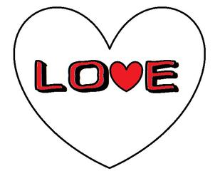 Herz #11 - Herz, Love, Liebe, Freundschaft, Partner, Partnerschaft, Symbol, Schriftzug, verliebt, Zeichnung