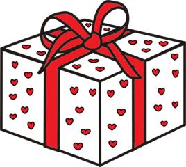Geschenk - Geschenk, Hochzeit, Hochzeitsgeschenk, heiraten, Liebe, Love, lieben, Glück, schenken, rot, weiß, Schleife, Herz, Herzen