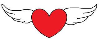Herz #13 - Herz, Liebe, Love, verliebt, Zeichnung, Illustration, Glück, Gefühl, Symbol, Flügel, fliegen, geflügelt, schweben, rot