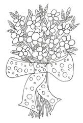 Blumenstrauß - Blumen, Strauß, Geburtstag, Geschenk, Valentinstag, Liebe, Glück, Freundschaft, Überraschung, Freude, aufmerksamkeit, Wörter mit ß, Wörter mit st