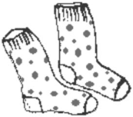 Socken - Socken, Kleidung, socks, clothes, chaussettes, Strümpfe, clothes, Kleidung, vêtements, Fußbekleidung, kurz, knöchellang, Bündchen, Söckchen, Paar, zwei, Anlaut S, Punkte, Pünktchen