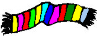 Schal - Schal, Wollschal, Winterschal, Strickschal, Kleidung, scarf, clothes, Winterkleidung, Wolle, warm, gestrickt, Winter, bunt, Anlaut sch, Wörter mit sch