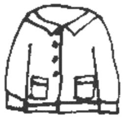 Jacke - Jacke, Kleidung, Kleidungsstück, jacket, clothes, cardigan, veste, gilet, vêtements, Strickgewirk, Wolle, gestrickt, stricken, warm, Strickjacke, Knöpfe, Wärmeregulierung, Weste, Anlaut J, Anlaut W, Wörter mit ck