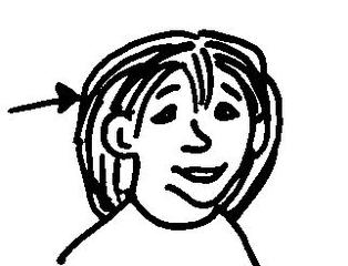 Haare 1 - Haare, Kopf, Körper, Körperteile, body, body parts, hair, head