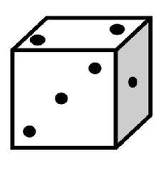Würfel #2 - Würfel, würfeln, werfen, Spiele, spielen, Augenzahl, Zahl, Zahlen, eins, zwei, drei, Wahrscheinlichkeit, Punkt, Punkte, Kubus, Hexaeder, Körper, geometrisch, 6 Seiten, Kanten, Ecken, Quadrate, Zufall, Illustration, Zeichnung, rechnen, Glück