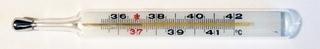 Fieberthermometer 37,2°C - Temperatur, Thermometer, Fieber, Fieberthermometer, Anzeige, Celsius, Grad, Körpertemperatur, messen, krank, Physik, Temperaturanzeige, Diagnostikgerät, Messgerät, Wärmelehre, Quecksilber, Skala, Zahlenstrahl