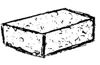 Schwamm - Tafelschwamm, sponge, putzen, wischen, Klassenzimmer, Schule, Tafel, Schwamm, Anlaut Sch, Lautbildung, Nomen, Einzahl, Singular, Substantiv, eckig, Schaumstoff, Reinigung, Wörter mit Doppelkonsonanten