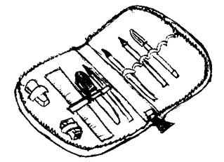 Federmappe - Federmappe, Federtasche, Etui, Mäppchen, Schulsachen, Stifte, Unterricht, Schule, Federmäppchen