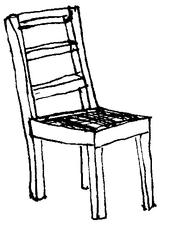Stuhl - Stuhl, Einrichtung, Möbel, Zimmer, Raum, Haus, Klassenzimmer, Wörter mit st