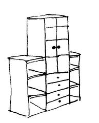 Schrank - Schrank, Regal, Möbel, Einrichtung, Zimmer, Raum, Klassenzimmer, Haus, Schule
