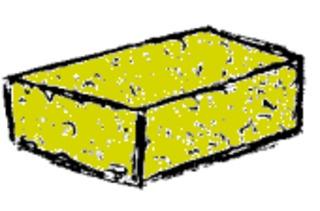 Schwamm - Tafelschwamm, sponge, putzen, wischen, Klassenzimmer, Schule, Tafel, Schwamm, Anlaut Sch, Lautbildung, Nomen, Einzahl, Singular, Substantiv, eckig, Schaumstoff, Reinigung, Quader, Wörter mit Doppelkonsonanten